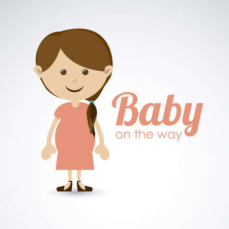 baby on the way over gray background vector illustration Vector