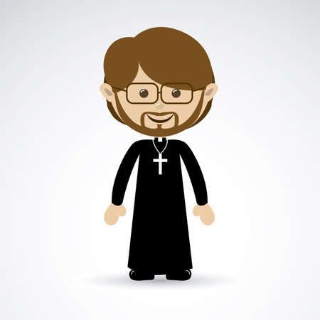priest design over gray background vector illustration