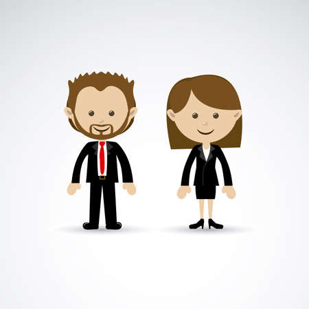 couple design over gray background vector illustration Vector