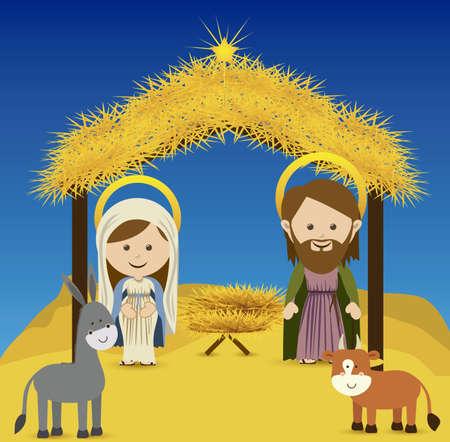 estrella de belen: diseño de la Navidad sobre el cielo de fondo ilustración vectorial