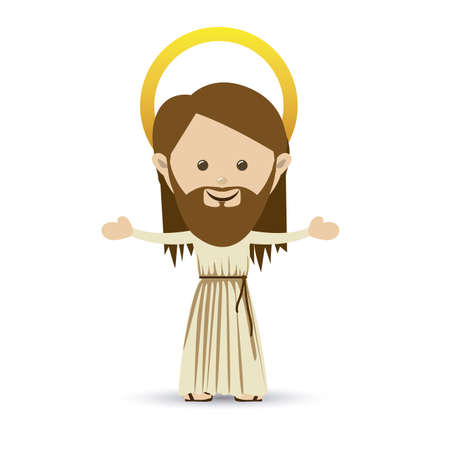 jesuschrist design over white background vector illustration Vector