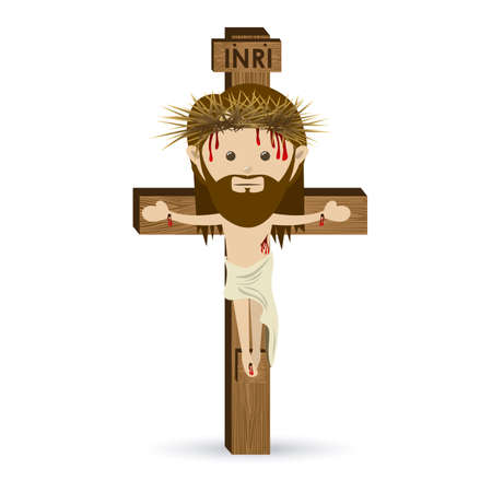 jesuschrist design over white background vector illustration Stock Vector - 22453425