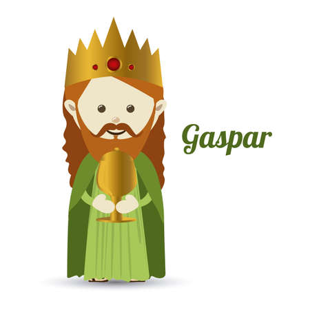 myrrh: gaspar design over white background vector illustration