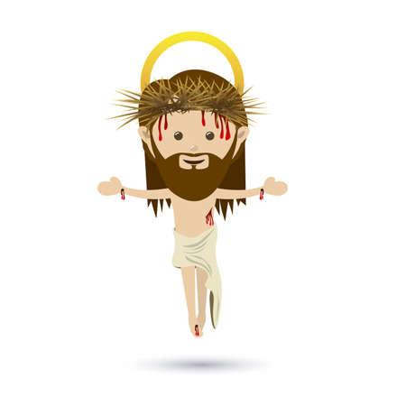 cross hair: jesuschrist design over white background vector illustration