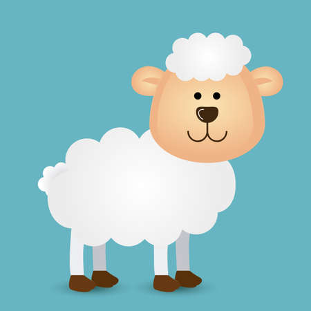 sheep design over white background vector illustration Vector