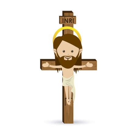 jesus illustration: jesuschrist design over white background vector illustration