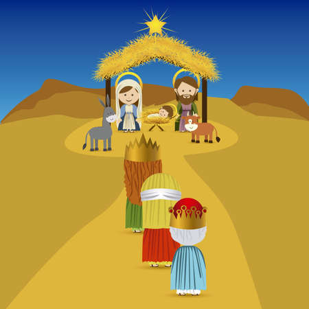 christmas design over sky background vector illustration  Vector
