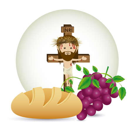 jesuschrist design over white background vector illustration Stock Vector - 22453443