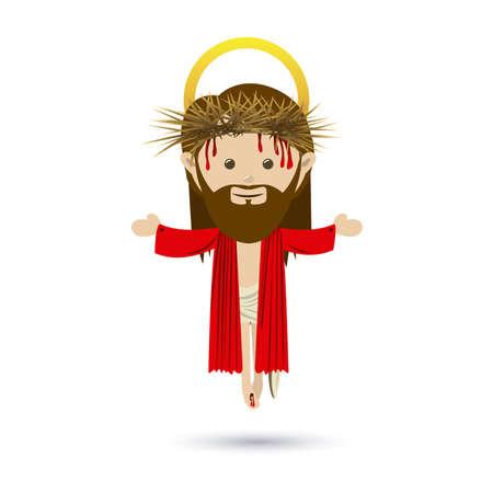 jesuschrist design over white background vector illustration Stock Vector - 22453444