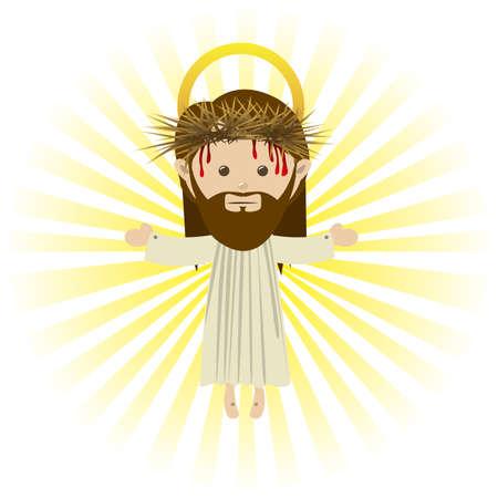 jesuschrist design over white background vector illustration Stock Vector - 22453450