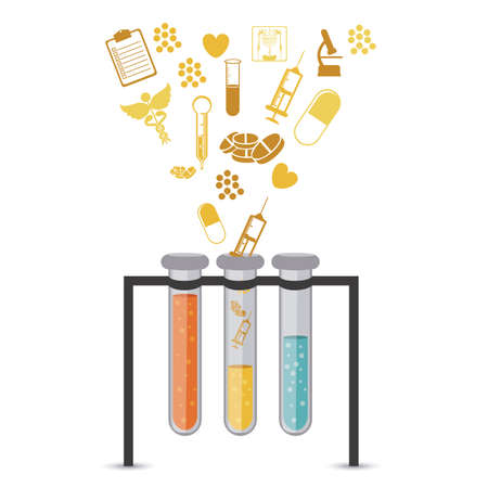 medical icons over white background vector illustration Stock Vector - 22453453