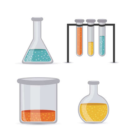 test tubes over white background vector illustration Stock Vector - 22453459