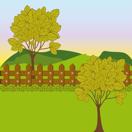 landscape design over sky background vector illustration Vector