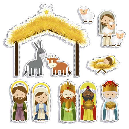 Weihnachts-Design auf weißem Hintergrund Vektor-Illustration Standard-Bild - 22453469