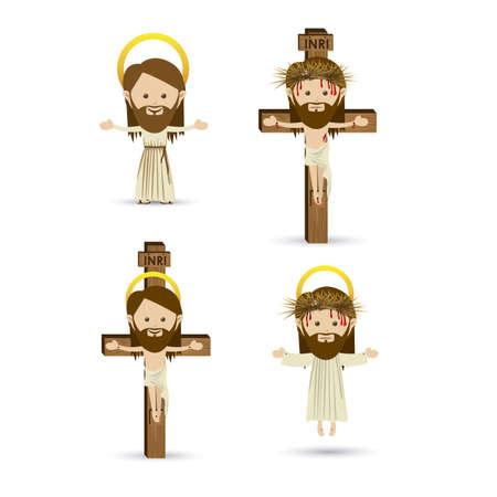 Jesus Design in weiß Hintergrund Vektor-Illustration Standard-Bild - 22453472