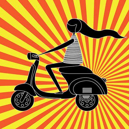 motorbike design over grunge background. vector illustration