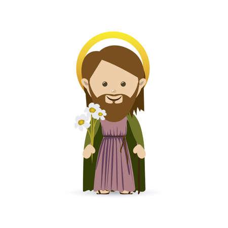 jesuschrist design over white background vector illustration Stock Vector - 22592812