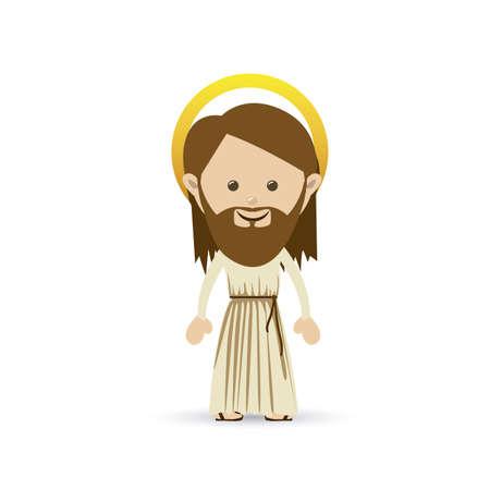jesuschrist design over white background vector illustration Stock Vector - 22592821