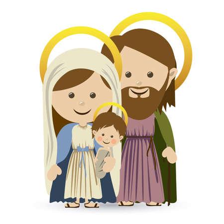 portal de belen: diseño de la Navidad sobre el fondo blanco ilustración vectorial