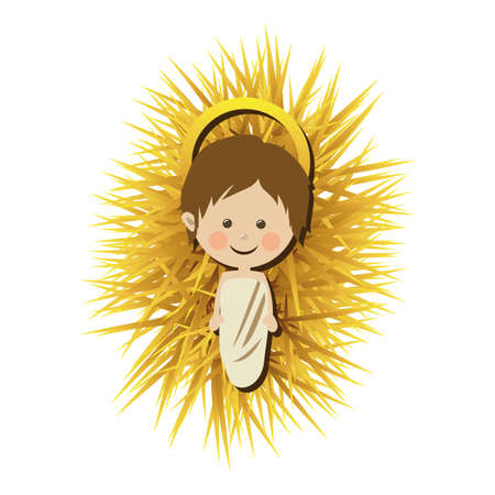 conception jesuschrist sur fond blanc illustration vectorielle