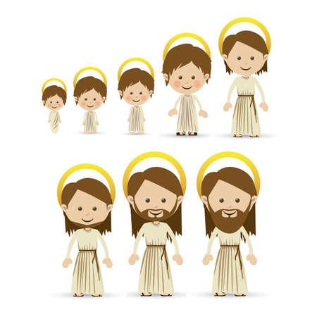 jesuschrist design over white background vector illustration Stok Fotoğraf - 22592858