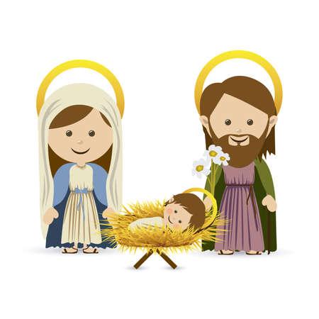 manger: christmas design over white background vector illustration Illustration