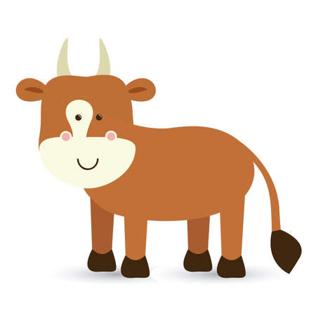 funny ox: ox design over white background vector illustration
