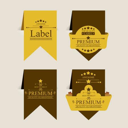 premium quality design over beige background vector illustration   Vector