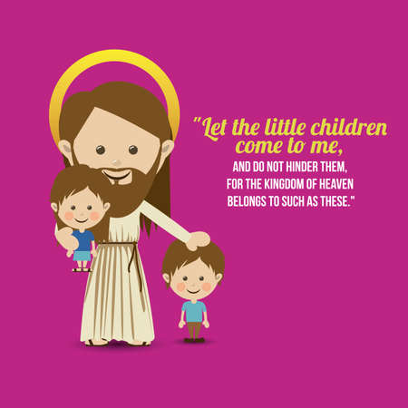 jesuschrist design over purple background vector illustration  Vector