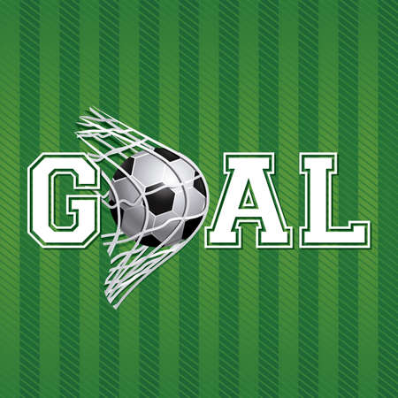 goals: soccer design over  green background vector illustration   Illustration