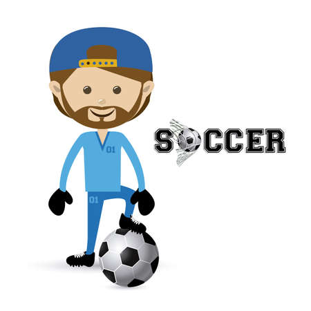 soccer design over white  background vector illustration Stock Vector - 22769863