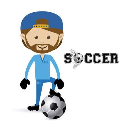 soccer design over white  background vector illustration Stock Vector - 22769863