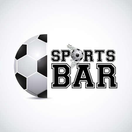 sports bar: sports bar  design over gray background vector illustration   Illustration