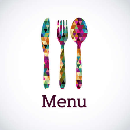 dinner: menu design over white background vector illustration Illustration