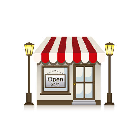 frontdoor: store design over white background vector illustration