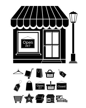 shopping design over white background vector illustration Vector