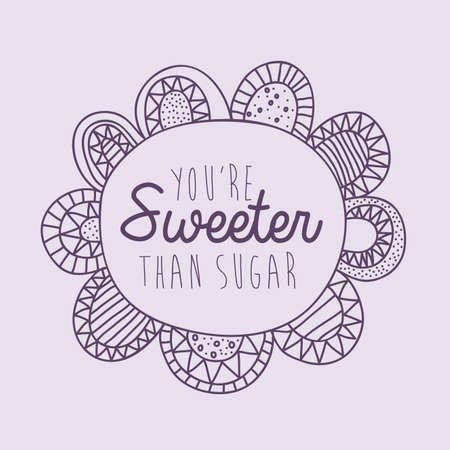 palitra: sweeter drawing over purple background vector illustration Illustration