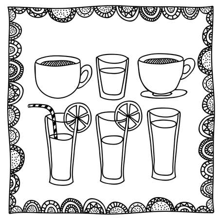 palitra: drinks drawing over white background vector illustration
