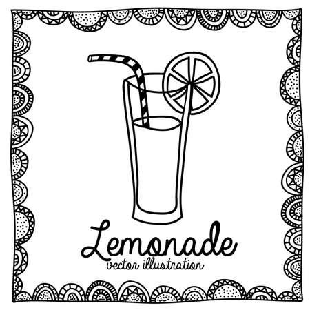 palitra: lemonade drawing over white background vector illustration  Illustration
