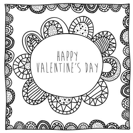palitra: valentines drawing over white background vector illustration  Illustration