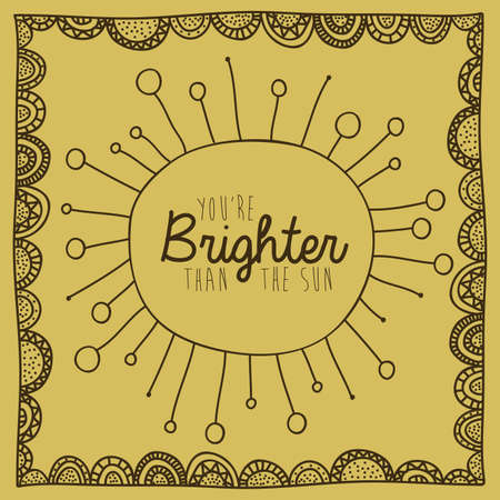 brighter: brighter drawing over brown background vector illustration