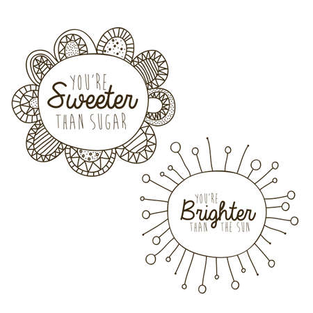 brighter: sweeter and brighter drawing over white background vector illustration