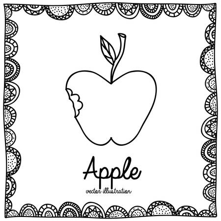 palitra: apple drawing over white background vector illustration Illustration