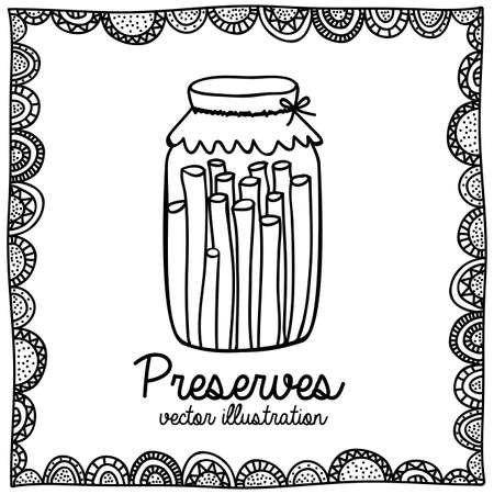 preserves: conserva dibujo sobre fondo blanco ilustraci�n vectorial Vectores