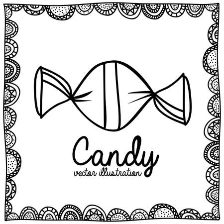 palitra: candy drawing over white background vector illustration