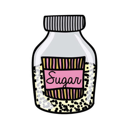 sugar drawing over white background vector illustration Stock Vector - 22769994