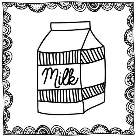 palitra: milk drawing over white background vector illustration Illustration