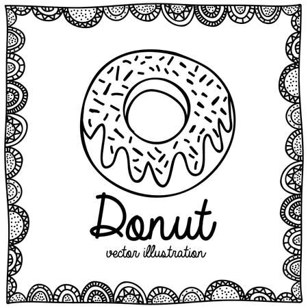palitra: donut drawing over white background vector illustration Illustration