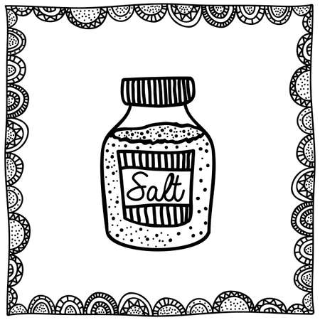 palitra: salt drawing over white background vector illustration