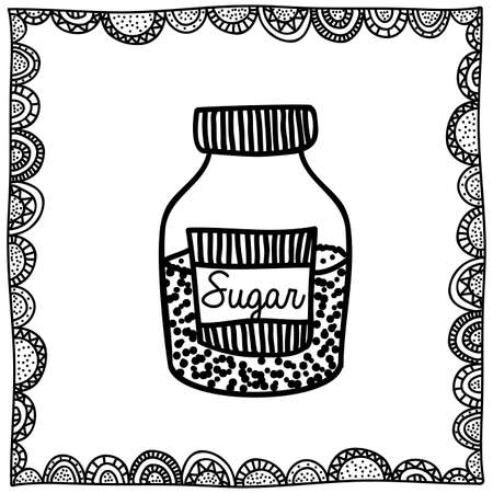 palitra: sugar drawing over white background vector illustration